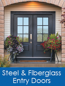 steel & fiberglass entry doors