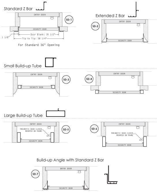 Security Storm Door Framing | Build-Up Tubing | HMI Doors