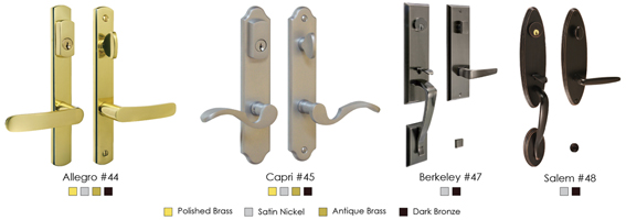The Allegro, Berkeley, Capri, And Salem Lever Handle Sets Are Available In  Single Cylinder. See Available Finishes Under Each Lock Set.