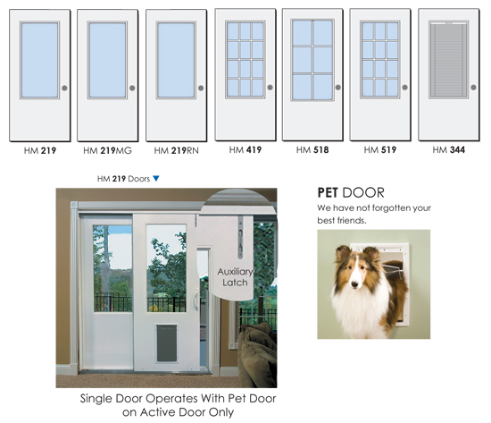 pet door sliding doors